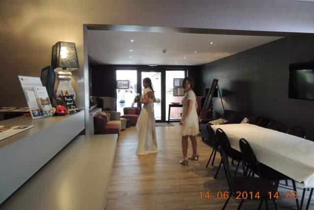 Une mariée à la réception