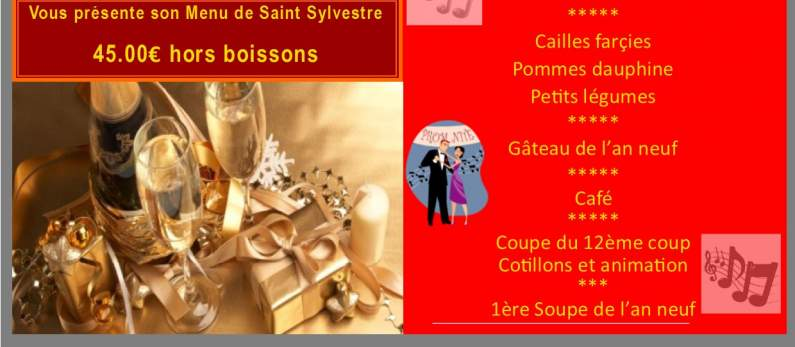 Detail Menu Saint Sylvestre